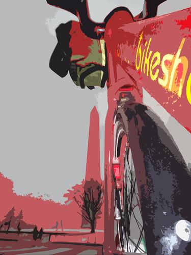 Capital Bikeshare and Washington Monument