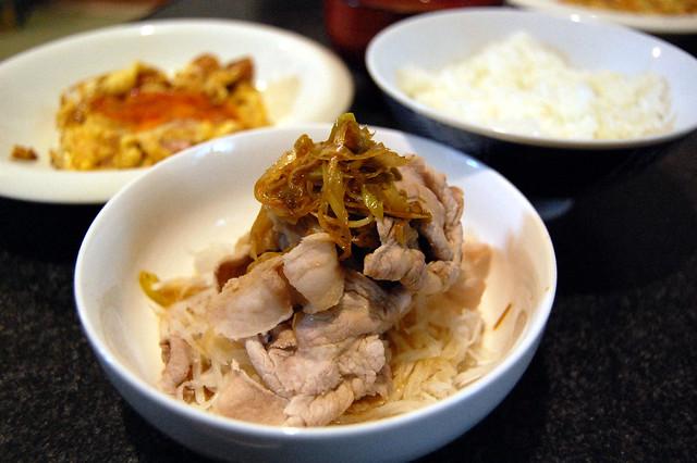 豚しゃぶと大根のサラダゆず胡椒風味