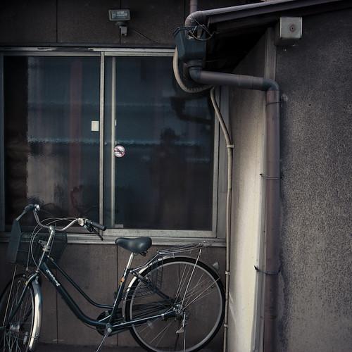Bike Window Pipe then Wall