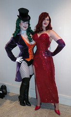Lady Joker and Jessica Rabbit (BelleChere) Tags: costume comic geek cosplay cartoon batman whoframedrogerrabbit jessicarabbit dragoncon 2010 ladyjoker