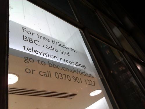 BBC ticket info