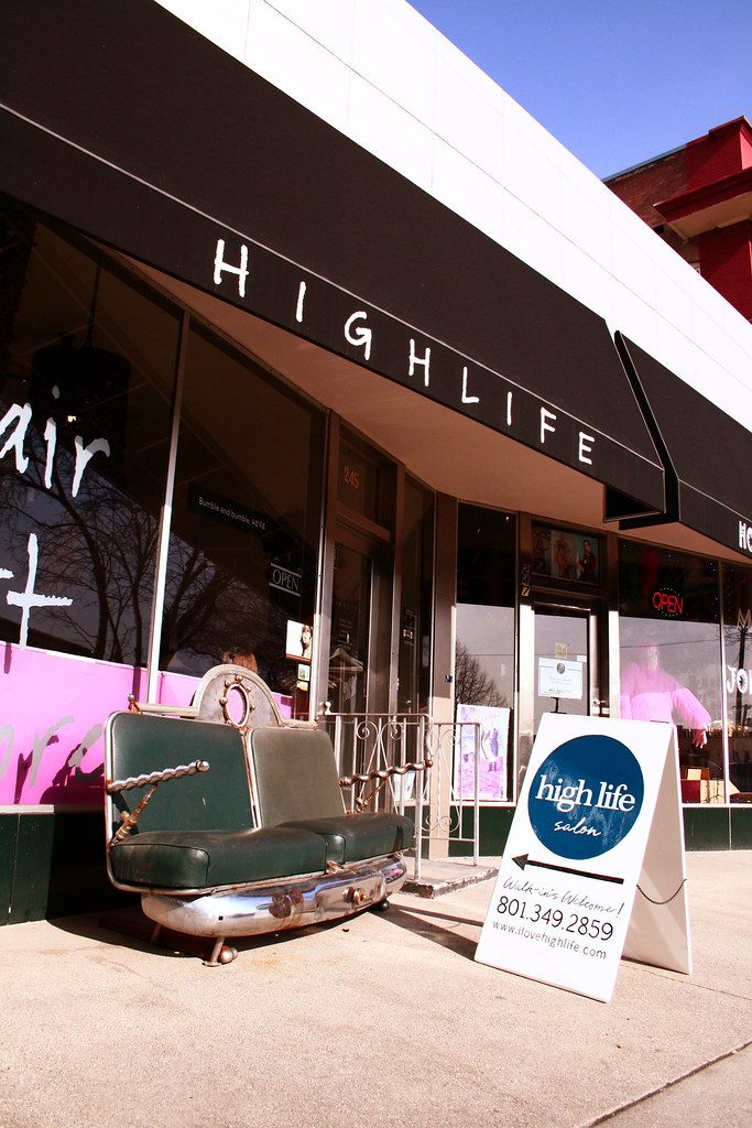 high life salon a frame blue side