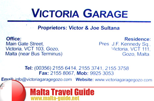 Victoria Garage Bicycle Rental in Gozo Island