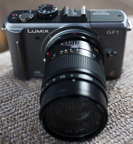 Panasonic GF2 Leica 90mm f/2.5 Summmarit-M lens Novoflex adapter GF1 20mm f/1.7