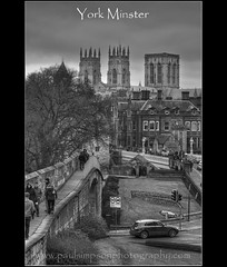 York Minster (Paul Simpson Photography) Tags: york uk england blackandwhite bw trafficlights history tourism blackwhite cityscape yorkshire religion tourists yorkminster romanwall northyorkshire jorvik cityview lendalbridge historicbuilding romanhistory eboracum religiousbuilding yorkcitywalls touristcity historicyork britishcities january2011 paulsimpsonphotography photosofyorkminster