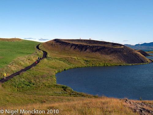 Pseudocrater adjacent to Lake Myvatn, Skútustaðir