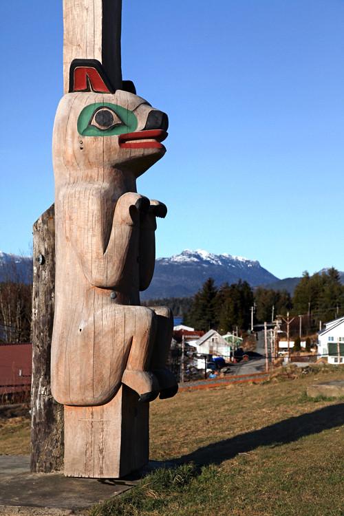 Klawock Totem Park and Klawock, Alaska