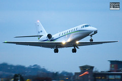 OK-UNI - 680-0139 - Travel Service Airline - Cessna 680 Citation Soverign - Luton - 110127 - Steven Gray - IMG_8549