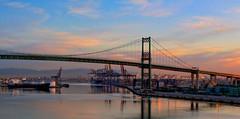 Port Bridge (firnville) Tags: port los angeles hdr brigde