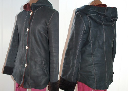 black leather jacket hoody lammy ingermaaike
