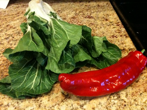 Bok Choy and Antique Sweet Pepper
