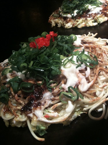 Okonomiyaki with Noodles