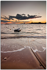 Calabardina II (Antonio Carrillo (Ancalop)) Tags: sunset sky espaa sun sol beach water canon atardecer boat mar spain agua rocks europa europe long exposure barca playa tokina murcia filter 1224mm rocas aguilas filtro cokin 50d calabardina nd8 gnd8 eaearth ancalop