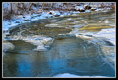 Bend in the River (PRS Images) Tags: winter snow ontario ice river niagaraescarpment ballsfalls twentymilecreek colorefex nikond7000