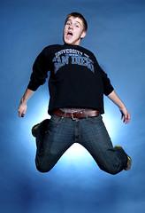 167/365 USD (Ian Fidino!) Tags: blue shirt studio ian happy jumping nikon san university diego tshirt backdrop tee usd toreros sb800 1755mm ab1600 fidino