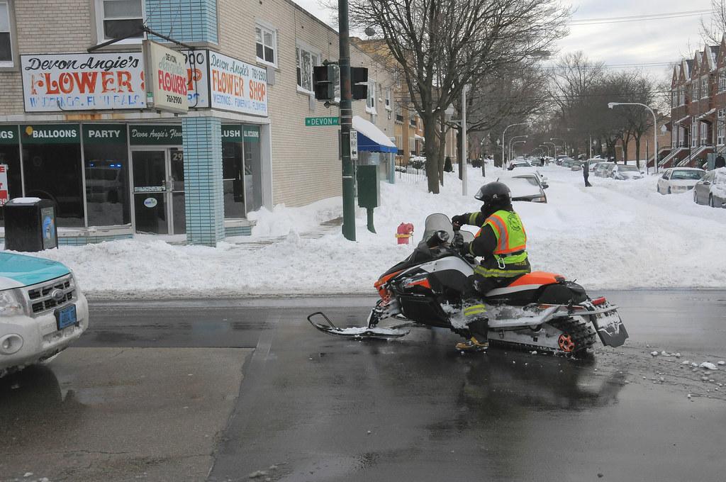 2011 Snowmobile 70 Leaving The Scene