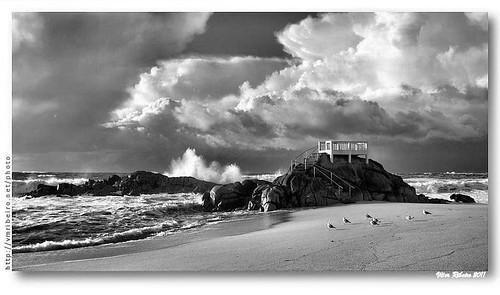 Praia das Caxinas #4 b/w by VRfoto