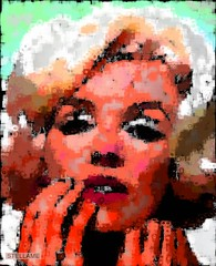 Marilyn with Fingers on Light Blue and Black and White Marilyns and Color Shapes (StellaMe) Tags: portrait woman art face collage marilyn lady female person marilynmonroe remix photomosaic manipulation montage monroe photographicart normajean specialeffects photoprocessing stellamecom stellame
