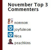 Top Commenter - November 2010