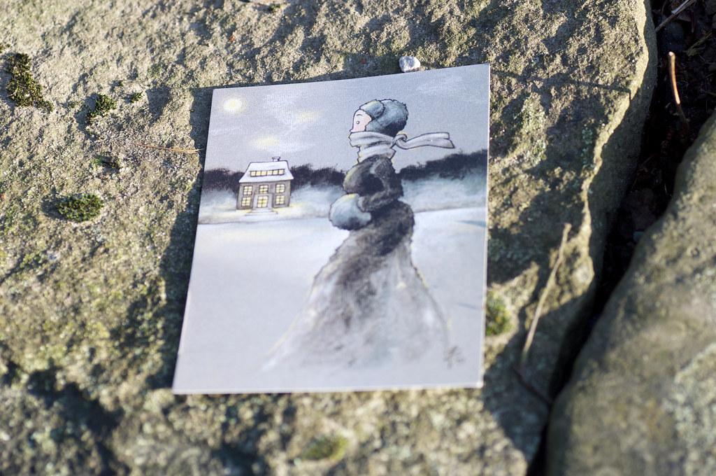 Foto der Eisläuferin Postkarte von Iris Luckhaus