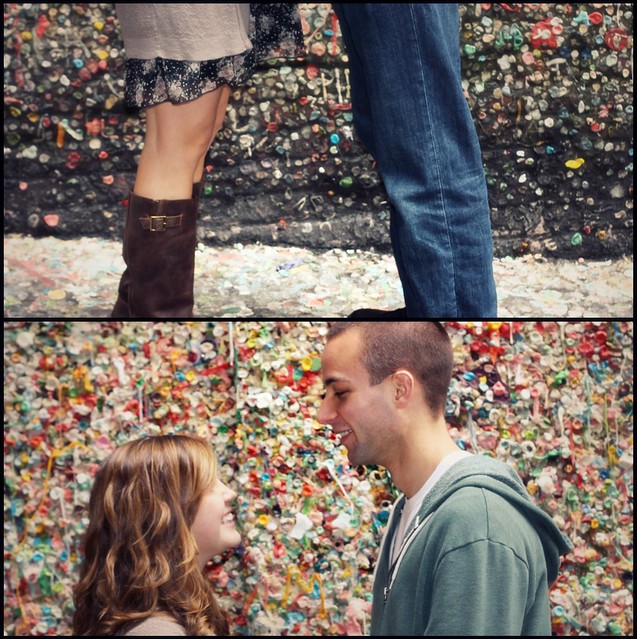 gum wall collage