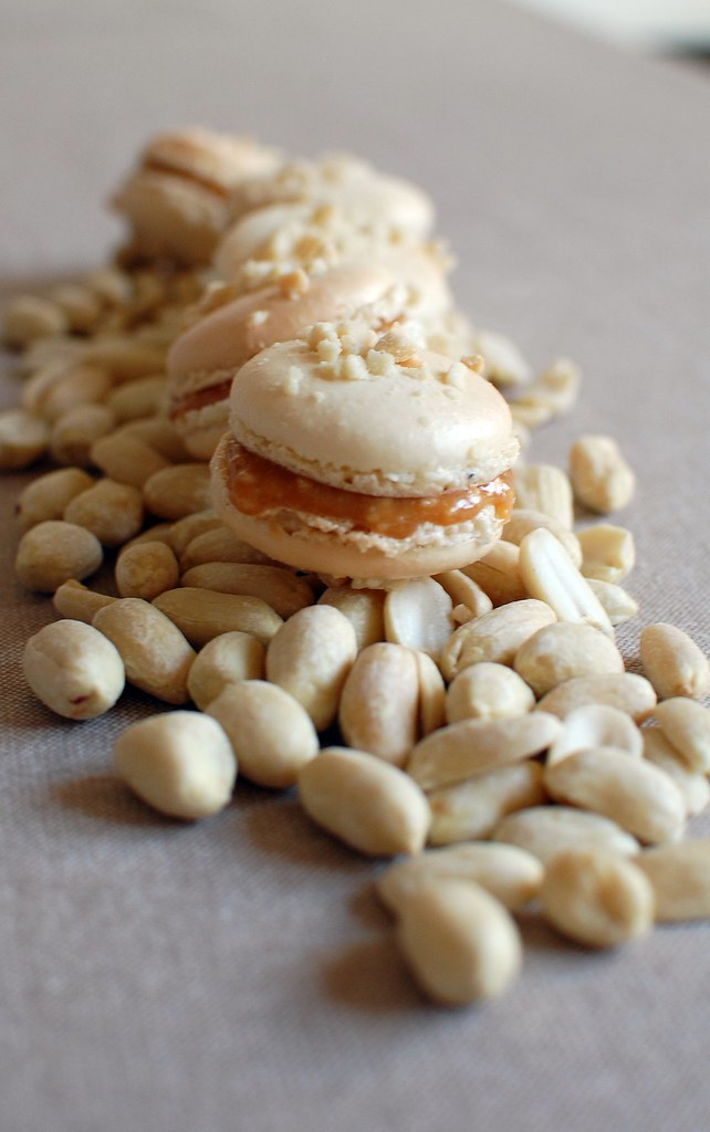 Salted Peanut & Caramel Macarons
