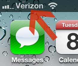 Verizon iPhone Bars