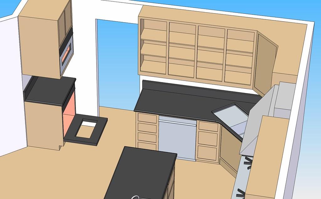 Corner Sink & 2 Ovens on Side 18b