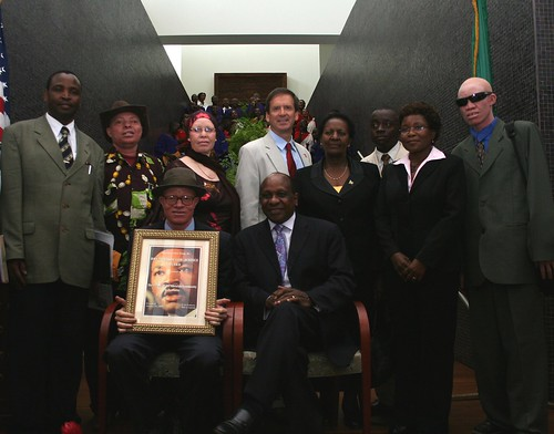People of the Albinism Community in Tanzania receive Martin Luther King Jr Drum Major for Justice