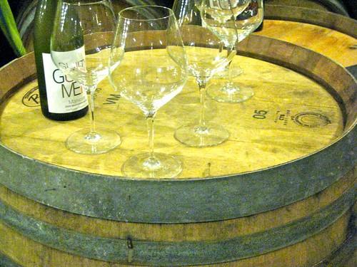 tasting in the wine cellar