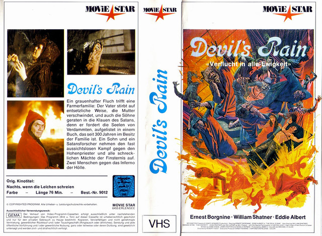 Devil's Rain (VHS Box Art)