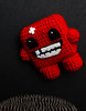 Meat Boy (PaRaP) Tags: xbox360 crochet plush plushies amigurumi smb xbla ganxet あみぐるみ peluix meatboy supermeatboy