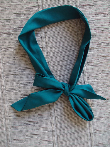Long Teal Scarf