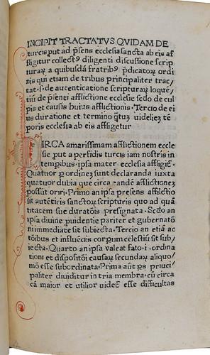 Pen-work initial in Tractatus quidam de Turcis