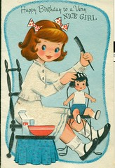 Happy Birthday to a Very Nice Girl (reinap) Tags: vintagebirthdaycard 50sbirthdaycard carltoncard