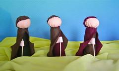 O tres pastores (tathapereira) Tags: waldorf infantil bebe quarto feltro crianca brinquedos fada l decoracao fadas antroposofia cardada