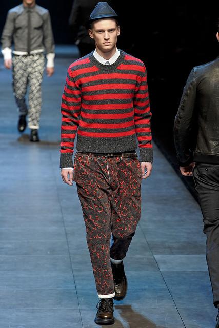 Alexander Johansson3246_FW11_Milan_Dolce&Gabbana(VOGUEcom)