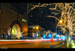 Nighttime Shopping (C. Dastodd) Tags: longexposure holiday chicago night lights downtown michigan lighttrails avenue magnificentmile magmile