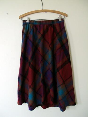 Highwaisted Vintage Plaid Skirt