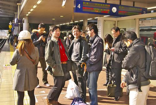 東京組 博多駅にて