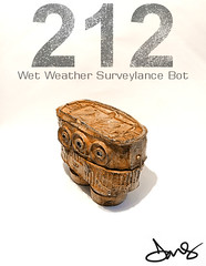 212 Wet Weather Surveylance Bot. (DMS One) Tags: sculpture robot 212 dms designertoy