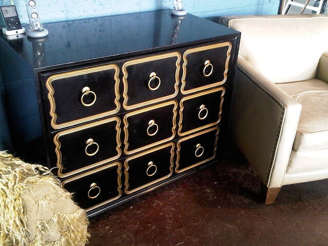 Dorothy Draper lacquered chest of drawers 1960's $3800