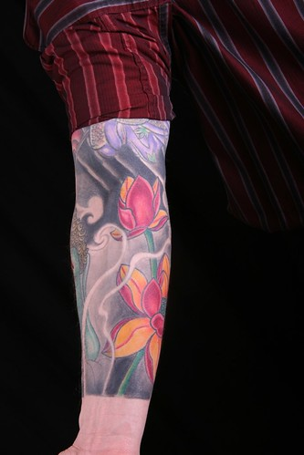 flower sleeve tattoo created orientalflowertattoosleevebyjavieracero