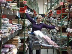 Pauline in fabric heaven!!