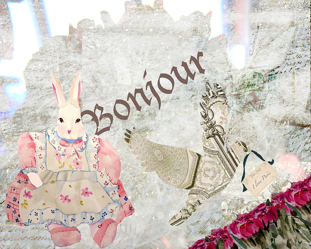 bonjour bunnie with layer one dove