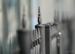 Fence in Tokyo (_nejire_) Tags: japan canon fence tokyo bokeh railing 135l 400d