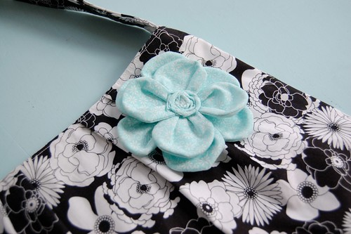 cutest fabric flower EVER.