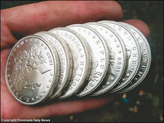 chinese counterfeit Morgan dollars