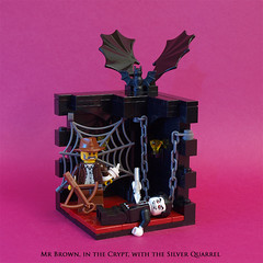 In the Crypt (crises_crs) Tags: lego vampire vignette crypt crossbow quarrel vanhelsing lugpol
