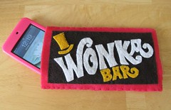 Wonka Bar iPod cozy